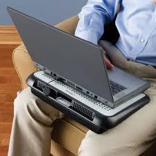 Laptop Bed Tray by The Electromagnetic Shielding Laptop Tray Hammacher Schlemmer