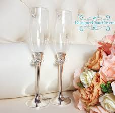 butterfly wedding champagne glasses