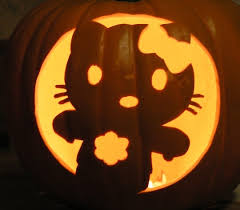 hello kitty pumpkin carving design enblow