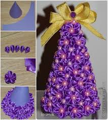 Homemade Christmas Tree by Wonderful Diy Mesh Ribbon Christmas Tree