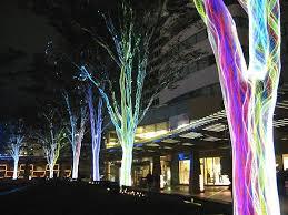 fiber optic light tree trees with fiber optic netting rappongi hills tokyo lighting as