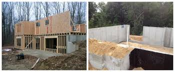 basement walkout frame or concrete rear wall on walkout basement ask the