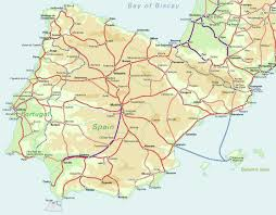 Map Of Spain by Detailed Railroads Map Of Spain Spain Detailed Railroads Map