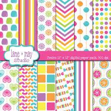 digital scrapbook papers rainbow theme patterns