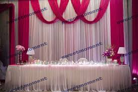 Curtains Wedding Decoration Aliexpress Com Buy 3x6m Sheer Wedding Curtain With Fuschia Drape