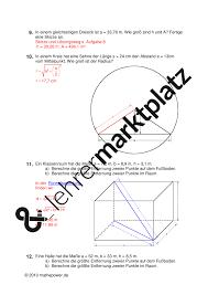 formel fl che kreis satz des pythagoras vermischte aufgaben 1 mathematik