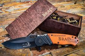 groomsmen knife custom engraved knife personalized pocket knife
