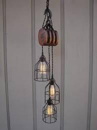 rustic industrial pendant lighting adorable pulley pendant light 25 best ideas about pulley light on