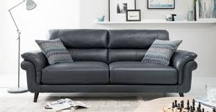 Monroe  Real Leather  Seater Sofa - Leather 3 seat sofa