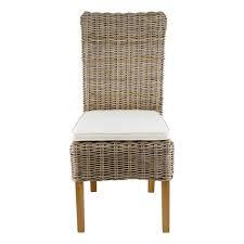 chaise tress e chaise en kubu tressé galette lot de 2 zago store