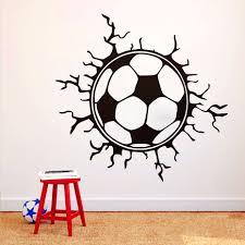 3d wall art soccer ball home decor ideas