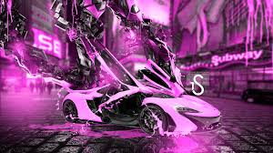 mclaren p1 purple mclaren p1 fantasy transformer car 2014 el tony