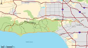 Los Angeles Area Map by Mulholland Drive Wikipedia