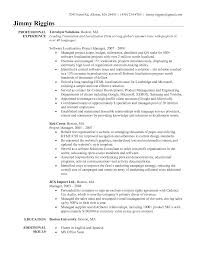 Sample Resume Of Project Manager by Project Manager Sample Resume Resume For Your Job Application