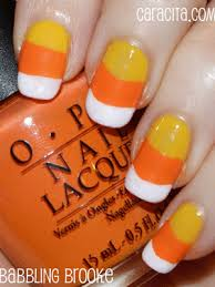 candy corn nail design halloween nail ideas