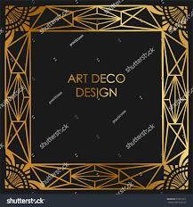 art deco design border frame template stock vector 676613311