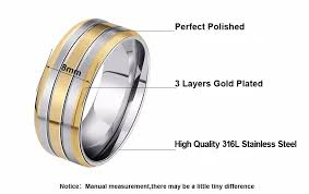 stainless steel engagement ring tripleclicks high quality stainless steel ring titanium steel