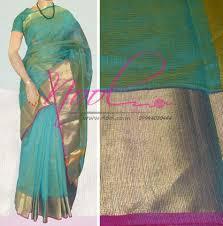 Buy Green Plain Cotton Silk Nool Indian Green Moonga Cotton Sarees Plain Sober Zari Weaved
