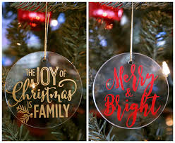 easy glass vinyl ornaments happiness is
