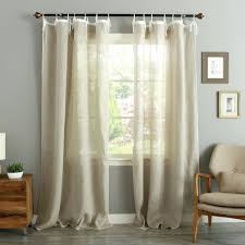 Tie Top Curtains Tie Top Drapes Linen Curtain Panels Tying How To Make Ribbon