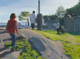 outdoor figures paintings