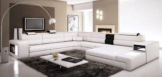 living room white couch modern white bonded sectional sofa for small space eva furniture