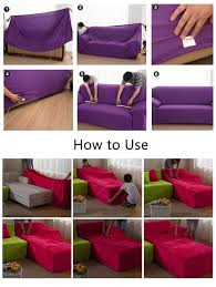 purple sofa slipcover stretch chair sofa cover 1 2 3 4seater protector couch cover ful