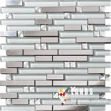 3d crystal glass metal mosaic stainless steel backsplash tiles for