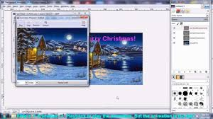 how to make animated gif ecard using free software gimp