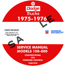 1975 1976 dodge pickup u0026 truck repair manuals all models