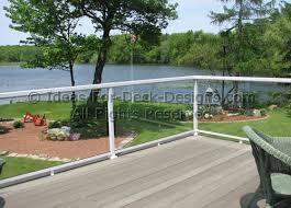 glass deck railing choose wood or aluminum
