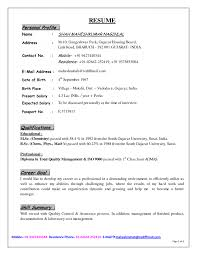 cover letter profile examples for resumes profile statement