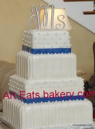 wedding cake royal blue ribbons pearls wedding cake designs eats bakery s