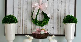 easter mantel decorations easter decorating simple pretty a pop of pretty easter mantel