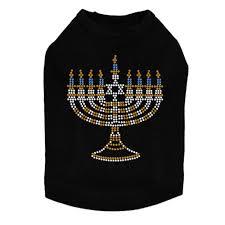 hanukkah apparel small menorah blue silver gold rhinestuds tank top hanukkah