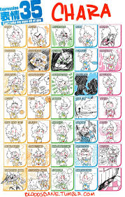 Expressions Meme - 35 expressions meme chara by xxbloodsbanexx on deviantart