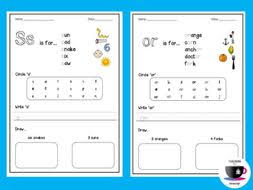 phonics worksheets 1 jolly phonics by teachinginateacup