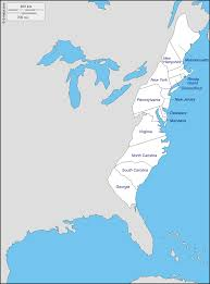 Blank Map Of New England by The 13 Colonies Of America Clickable Map 24 Best Student Product