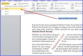 membuat daftar isi table of contents di word 2007 cara cepat membuat daftar isi makalah otomatis di microsoft word