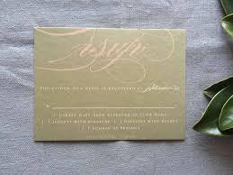 wedding invitations calligraphy bold calligraphy wedding invitations in blush and gold cardinal