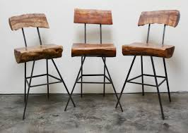 Furniture Rustic Modern by Rustic Modern Iron And Log Bar Stools At 1stdibs