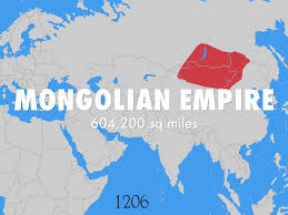 Mongol Empire Map Genghis Khan By Ggonzalezruiz500387