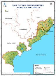 Bay Of Bengal Map East Flowing Rivers Between Mahanadi And Pennar
