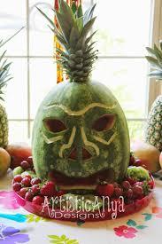 tiki pumpkin carving ideas artistic anya designs hawaiian luau party