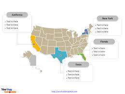 Printable Blank Map Of The United States by Free Usa Powerpoint Map Free Powerpoint Templates