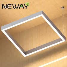 commercial linear pendant lighting 300mm 600mm 1200mm square led pendant direct indirect lighting