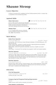 Sample Resume For Machine Operator Position by Press Operator Resume Samples Visualcv Resume Samples Database