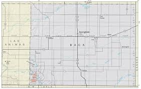 Colorado County Map by Baca County Colorado Geological Survey