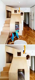 Plywood Bunk Bed A Custom Bunk Bed Tucks Neatly Into This Small Room