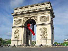Frebch Flag Arc De Triomphe And Giant French Flag French Moments French